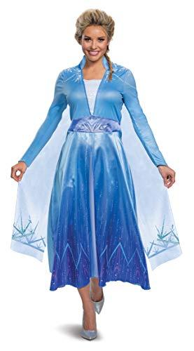 Disguise Women's Disney Elsa Frozen 2 Deluxe Adult Costume, Blue, Small