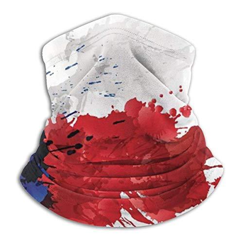 senob Flagge von Texas aus bunten Spritzern Bequeme Fleece Neck Warmer Sturmhaube