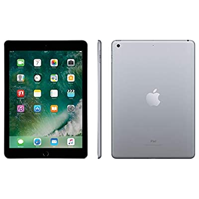 "Apple iPad (5th Gen) 9.7"" (2017) 128GB Wi-Fi - Space Grey (Renewed)"
