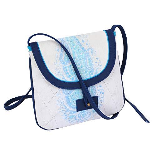 Handblock printed leather-free Vegan All Fabric Sling Bag