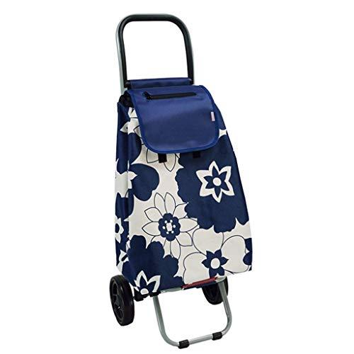 Rollatoren Einkaufstrolleys Shopping Trolley Tragbare Trolley Car Klettern Fußboden zu Einer Nahrungsmittel-LKW Alter Wagen kaufen kann 20 Kg Bär (Color : Blue, Size : 93 * 33 * 31cm)