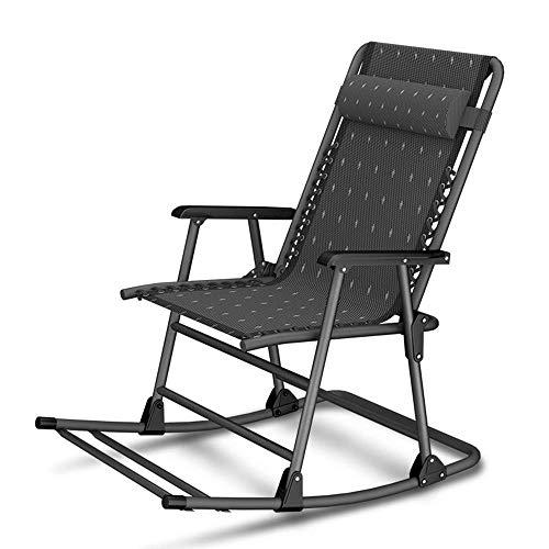 ZZX Liegestuhl klappbar Gartenliegen Relaxliege Klapp Schwerelosigkeit Schaukelliegestuhl Sommer Liegestuhl Gartenstuhl mit einem Kissen