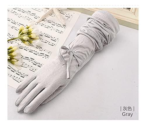 JSJJAHN Guantes de Verano Guantes de Verano para Mujer Muñeca Corta de algodón de algodón de otoño a Prueba Corta a Prueba de resbalones UV Protector Solar Guantes de conducción