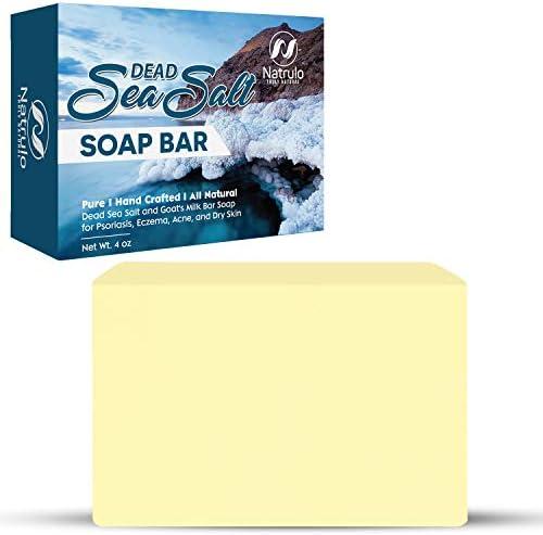 Natrulo Dead Sea Salt Soap Bar for Face Body 4oz Pure Organic All Natural Goat s Milk Bar Soap product image