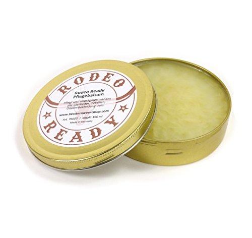 Rodeo Entretien Ready cuir & oilskin Baume 190 ml – oilskin Baume d'entretien pour vêtements de oilskin respirante Alternative à oilskin reproofing Cire Wax