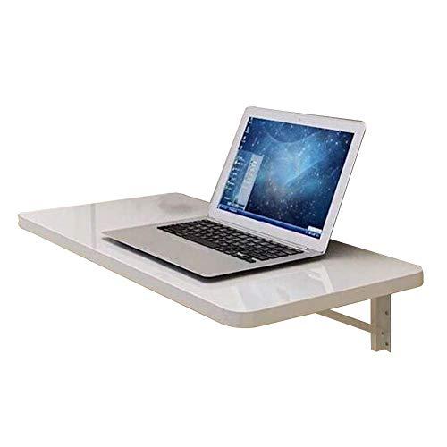 Schrijftafel levendig/opslagtafel eenvoudigweg wandtafel eettafel opvouwbare laptoptafel kantoor bespaart ruimte platen op houten basis, 2 maten (kleur: 60x35CM Wit