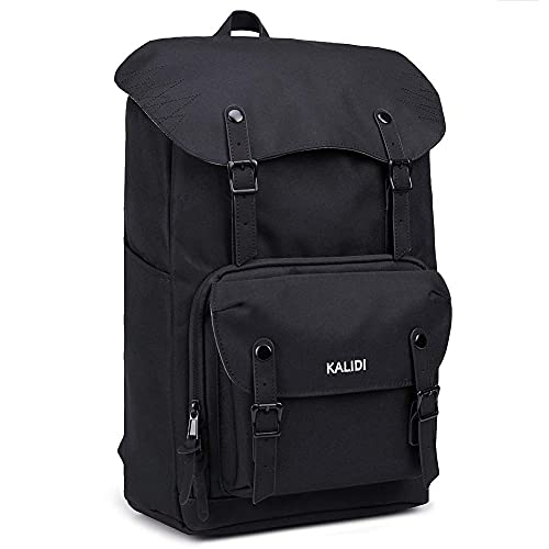 KALIDI 17 Zoll Laptop Backpack Großer Rucksack Wanderrucksack bis zu 15.6 Zoll Laptop Notebook Arbeit Campus Studenten Outdoor Reisen Wandern (schwarz)