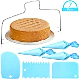 7 Pieces Adjustable Double Wire Cake Cutter Stainless Steel Cake Cutter Slicer, Reusable