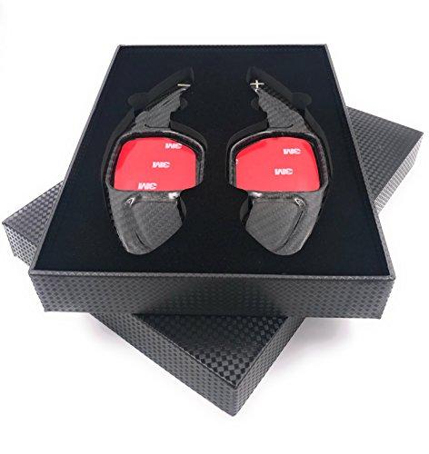H-Customs Levas En Volante Dsg levas de cambio Shift Paddle hecho de carbono real TYPE A para Seat Leon 5F, también Cupra REAL CARBON