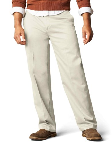 Dockers 40851-0065 - Signature Khaki Lux Pantalones elsticos de algodn, Ajuste clsico Hombre