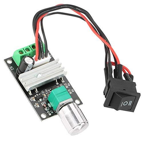 DC 6 V 12 V 24 V 3 A 80 W DC Motor Speed Controller (PWM) Velocidad ajustable reversible DC Motor driver Switch inversión para hacer pequeños trabajos de bricolaje [Clase de eficiencia energét