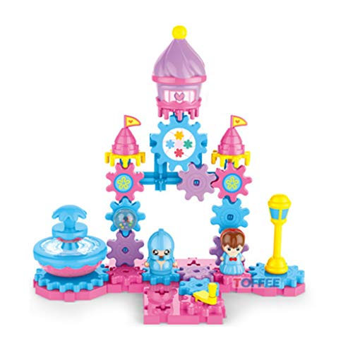 Lowest Prices! LAL6 Gear Building Block Castle Model Mechanical Kids DIY Spell Inserted Puzzle Build...
