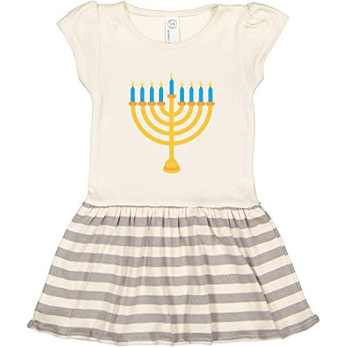 inktastic Hanukkah Chanukah Menorah Toddler Dress 2T Natural with Stripes 1fa35