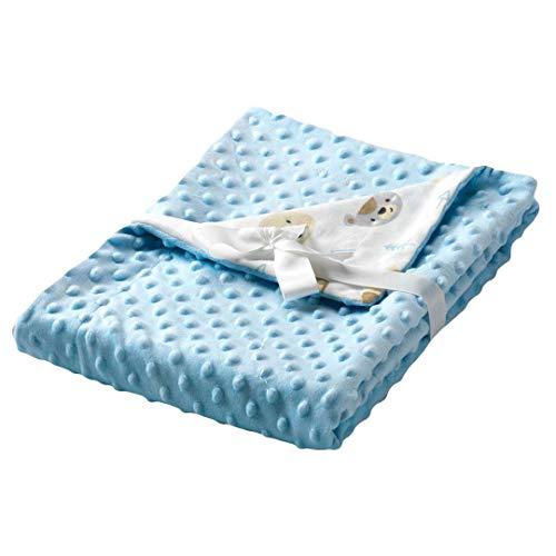 Textiles Mora Manta para Bebé Dubidu - Mini Cuna 80X110Cm - Azul - Mantas, unisex