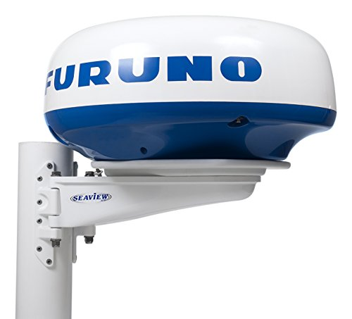 Seaview Mast Mount for Specific Closed Dome Radars, White, SM-18-U