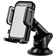 Mpow Car Phone Mount, Dashboard Car Phone Holder, Washable Strong Sticky Gel Pad with One-Touch Design Compatible iPhone 11 Pro, Max, X, XS, XR, 8, 7, 6 Plus, Galaxy