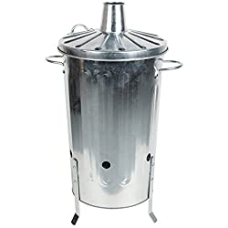CrazyGadget® 18 Litre 18L Small Garden Galvanised Metal Incinerator Fire Burning Bin