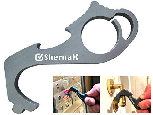 Shernax Abre puertas sin contacto en aluminio, gancho de llave