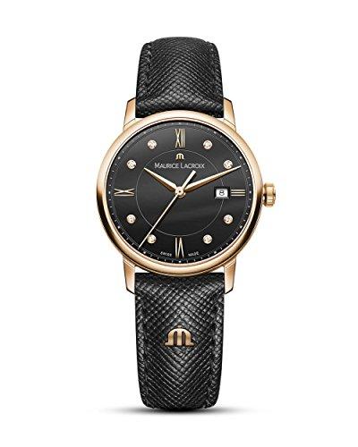 Maurice Lacroix Damen Analog Quarz Uhr mit Leder Armband EL1094-PVP01-350-1