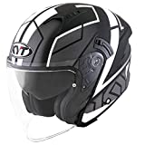 KYT CASCO NF-J MOTION MATT RED FLUO - L