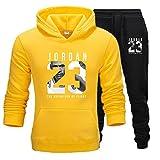 Hommes 23# Jordan Pull Performance Hoodie Sweat-shirt Basketball Sportswear Survêtement Ensemble Joggers Pantalon Pantalon de jogging Pantalon E,L