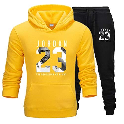 Herren 23# Jordan Pullover Performance Hoodie Sweatshirt Basketball Sportswear Trainingsanzug Set Jogger Hose Jogginghose E L