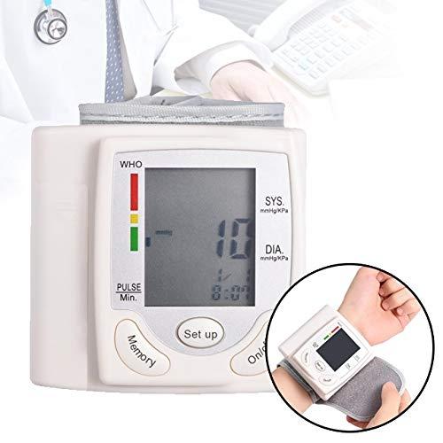 Handgelenk-Blutdruckmessgeräte, Automatische Digital-LCD-Anzeige Handgelenk-Blutdruckmessgerät Einfach zu verwenden Herzfrequenz-Pulsmesser Tonometer Blutdruckmessgeräte Pulsometer Für Kinder und älte