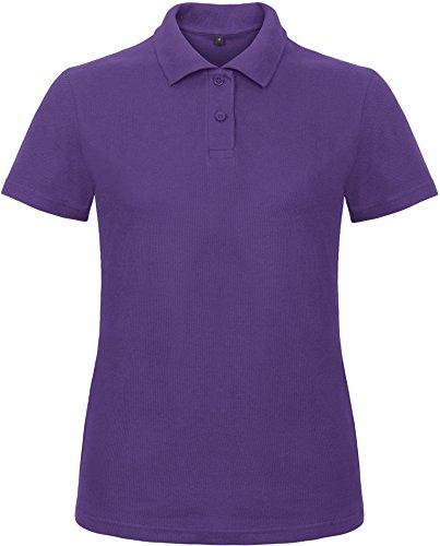 B&C: Ladies` Piqué Polo Shirt ID.001 Women PWI11, Größe:3XL;Farbe:Purple