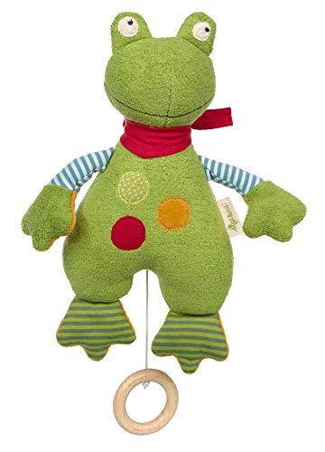 SIGIKID 39497 Spieluhr Frosch Green Mädchen und Jungen Babyspielzeug empfohlen ab Geburt grün