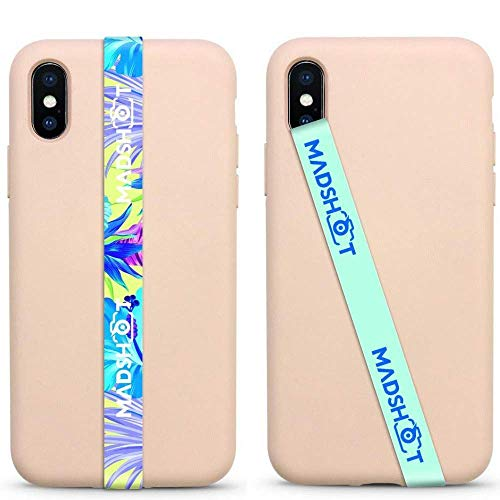 New MADLOOPS - Phone Grip Finger Strap Accessory for Mobile Cell Phone (No-Strech) - with 3M Tape - Make Sure Your Phone Does not Fall Anymore (blueflowersmad)