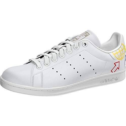 adidas Originals womens Stan Smith Sneaker, White/Halo Ivory/White, 9.5 US