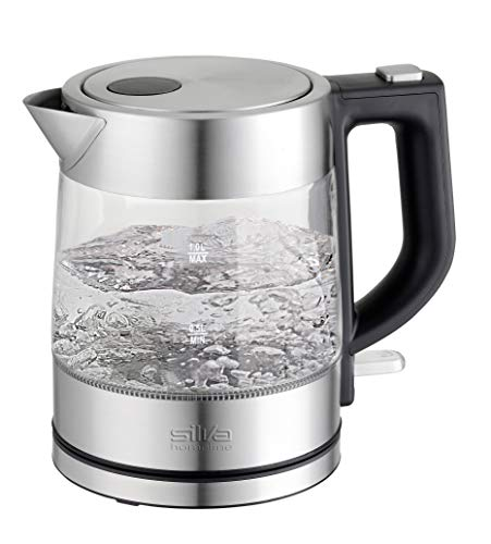 Silva-Homeline KL-G 2001 Wasserkocher 1 Liter, 2200, Glas-Edelstahl