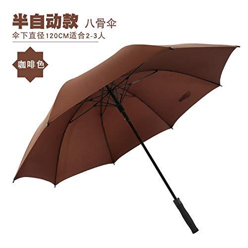 MVBGLK Rechte paraplu lange handvat paraplu high-end mannen golf paraplu bedrijf recht Koffie