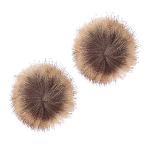 SM SunniMix Sac à Pompon Charms Ball en Fausse Fourrure de Raton Laveur Ball Soft - Marron, 16cm