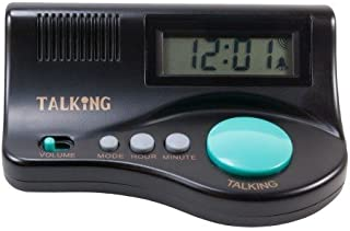 Features an Audio Time Report, Hourly Time Announcement, Adjustable Volume, and Easy to Set Alarm - Curve Talking Clock