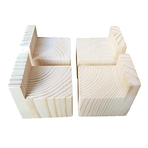 Almohadilla de elevación para Muebles de Madera Maciza, pies de elevación, Patas de Mesa/Patas de Cama/sofá, Antideslizante, Resistente al Desgaste, 4 Piezas(Color:A,Size:10cm/3.9in)