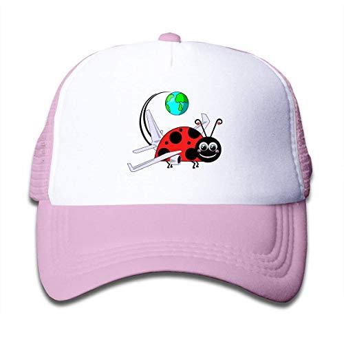 Yuanmeiju Kinderdruck Trucker Caps Travel Marienkäfer Sporthut für Jungen Travel Outdoor Hüte verstellbar 50-55cm Schwarz