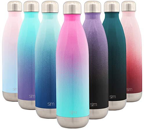 Simple Modern Wave 750ml Termo Botella Agua Acero Inoxidable, Botella termica Mantiene el Frio por 28 Horas Aislada al Vacío Doble Pared para Deporte café o Viaje Dos Tonos: Sorbete