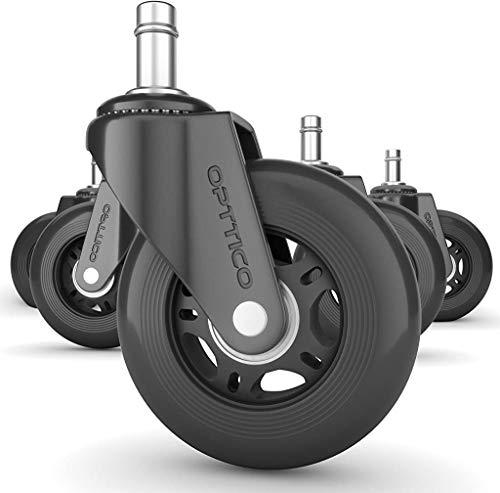 OPTTICO Office Chair Wheels For Hardwood Floors