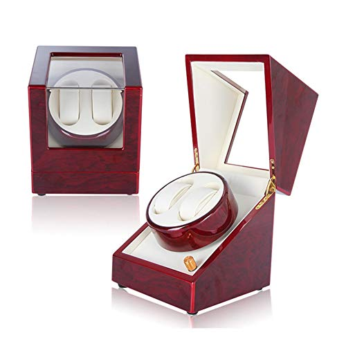 Oksmsa Cajas Giratorias for Relojes Automatico, Motor Silencioso con 5 Modos, 2 Modos De Fuente De Alimentación, 2+0 Reloj Almacenamiento Caja (Color : A)
