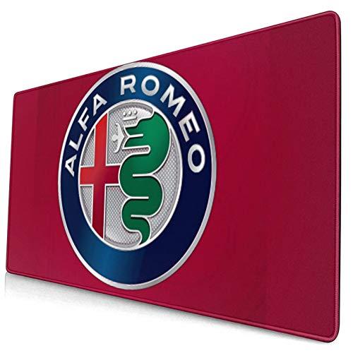 Al-FA Romeo Mauspads für Computer Gaming-Mauspads elektronische Sportarten Geeignet für Personal Computer Konsolen 40 x75 cm