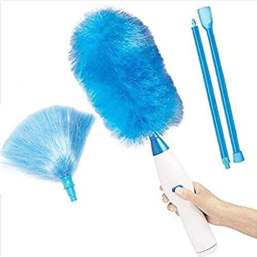 LIWEIXKY Electric Cleaner Brush, Plumero De Microfibra con Barra De Extensión Giratorio...
