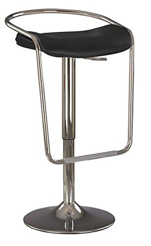 Campari Chaise Haute DE Bar PIVOTANTE 360°,Hauteur RÉGLABLE 69-81 cm, Assise Extra Large- 46 cm. / Tabouret DE Bar AU Design FUTURISTE. Designer Hilary BIRKBECK. (Noir)