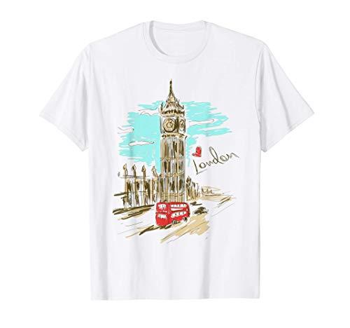 El Big Ben ama las obras de arte dibujadas a mano de Londres Camiseta