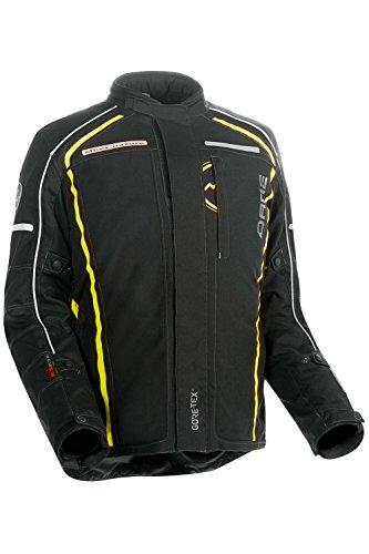 DANE TORNBY GORE-TEX® Motorradjacke Farbe schwarz/signalgelb, Größe 54