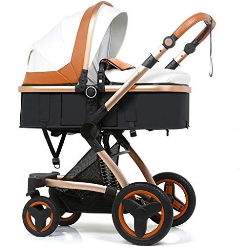 Kiter Poussette Landau Poussette bébé Haute Paysage Panier de Transport de bébé Peut s'asseoir inclinable Pliant bidirectionnel Choc bébé Poussette Trolley (Color : A)