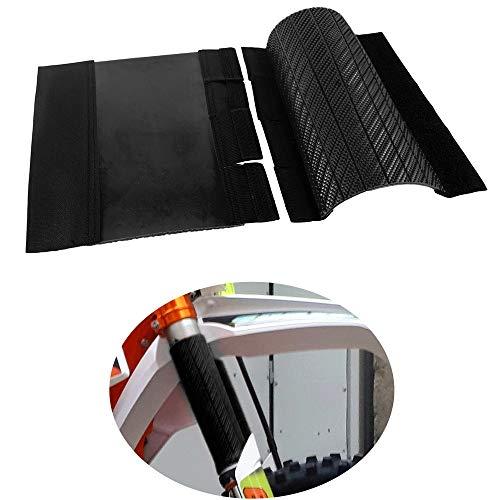 Protezioni Forcella Superiori Universali per Moto Involucri di Gomma Ghette Copertura Protettiva per Forcelle con Lunghezza di 235mm (Nero)