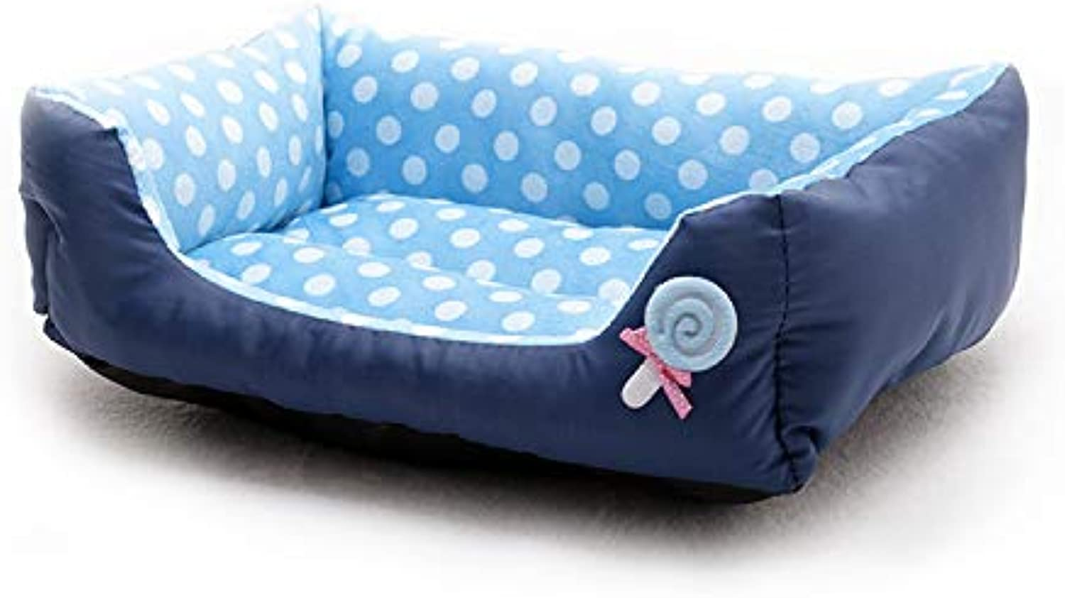 Pet Bed, Sofa Bed, Cat Litter, Can Be Washed with Water,Easy to Clean (color   bluee, Size   L)