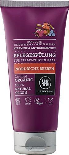 Urtekram Scandinavische bessen verzorgende spoeling bio, voor beschadigd haar, 180 ml
