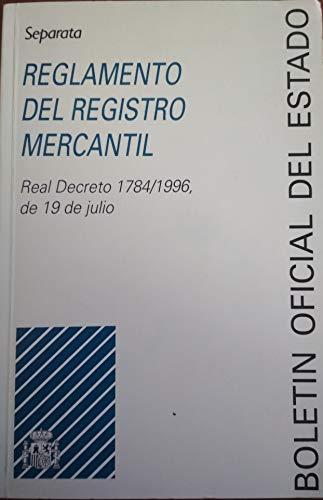 Reglamento del Registro Mercantil (Separatas)